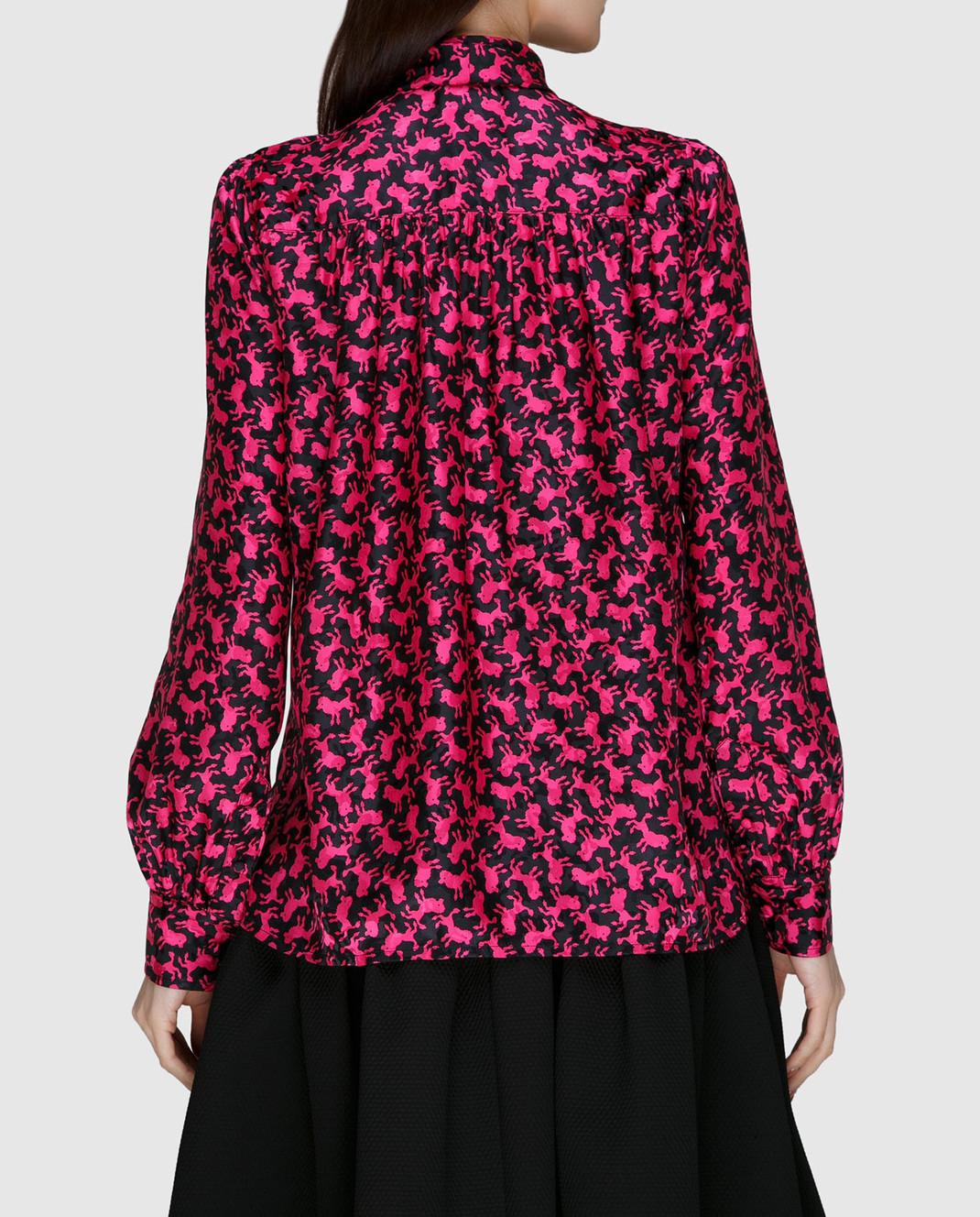 Marc Jacobs Малиновая блуза из шелка изображение 4