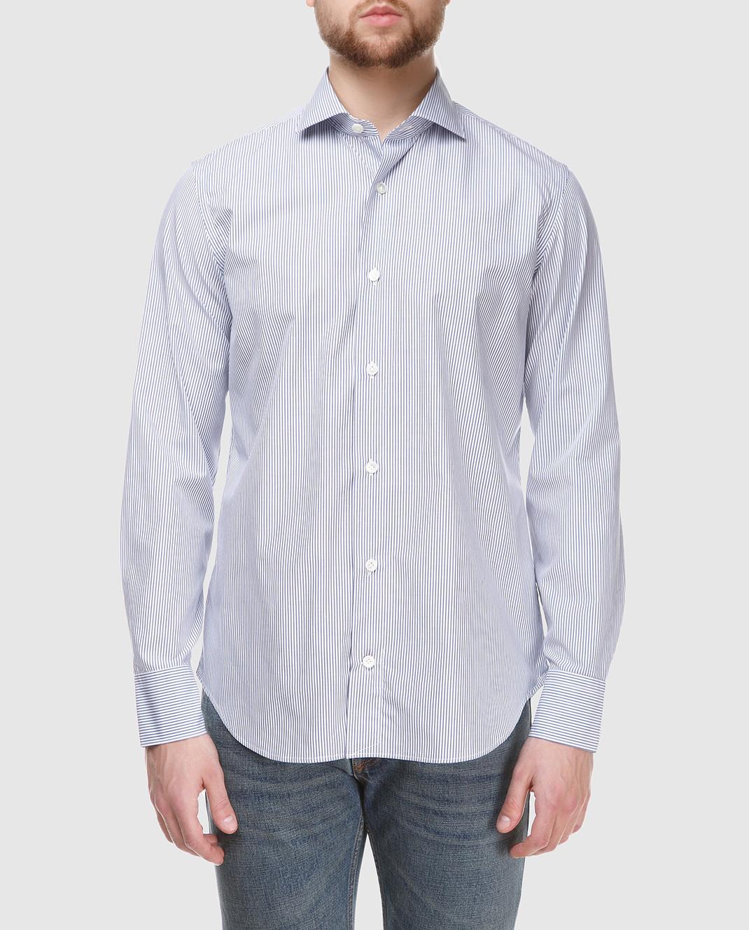 Eleventy Голубая рубашка 979CA0001CAM24003 изображение 3
