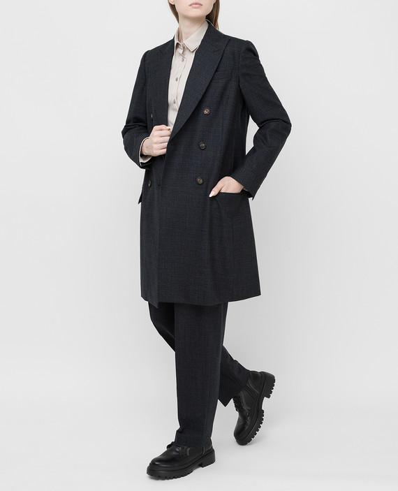 Темно-серое пальто из шерсти hover