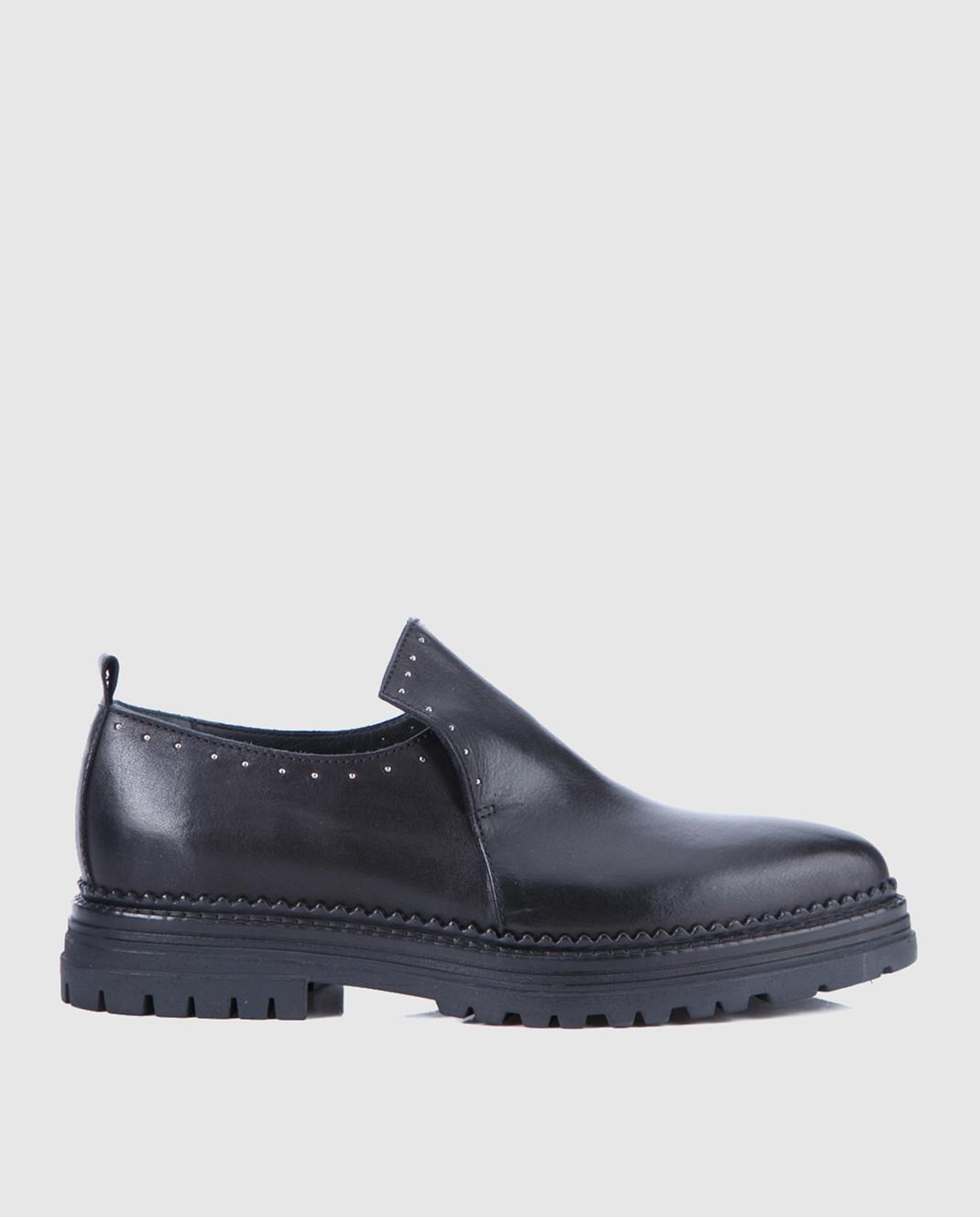 Fru it Черные кожаные туфли 4977