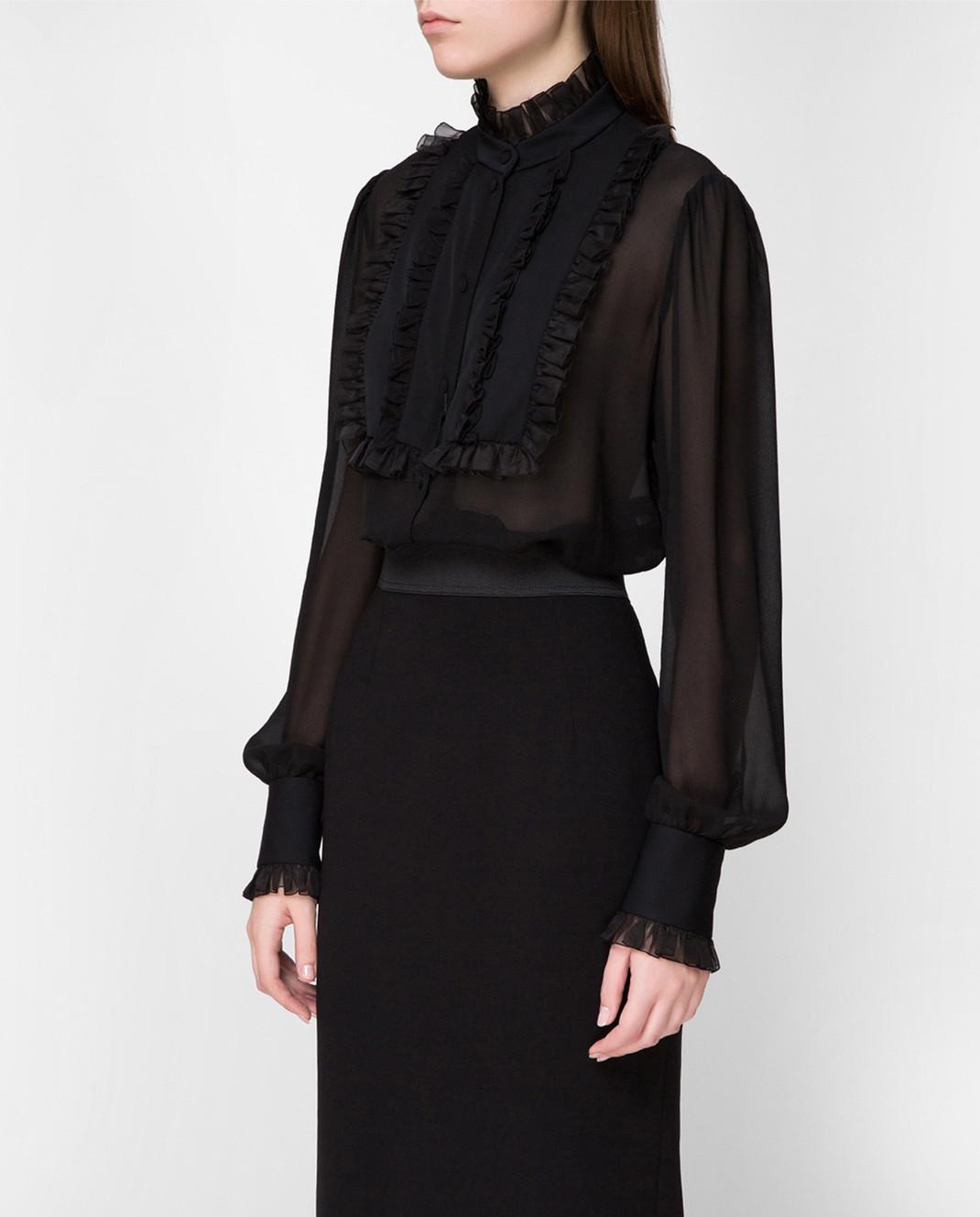Dolce&Gabbana Черная блуза F5K14TFU1AR изображение 3