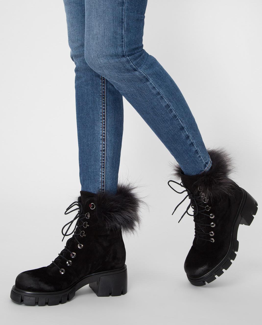 Fru it Черные замшевые ботинки 5125M изображение 2