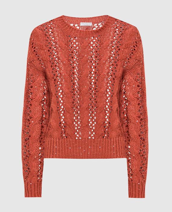 Терракотовый свитер