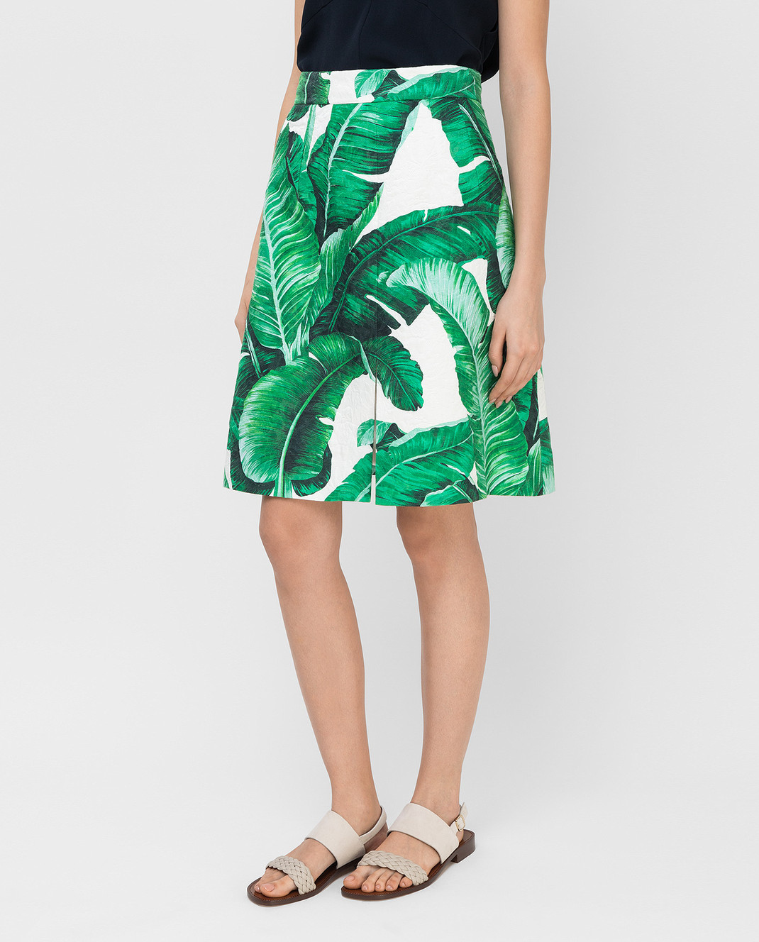 Dolce&Gabbana Зеленая юбка F4AKYTFSMY7 изображение 3