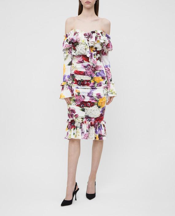 Платье из шелка с драпировкой hover