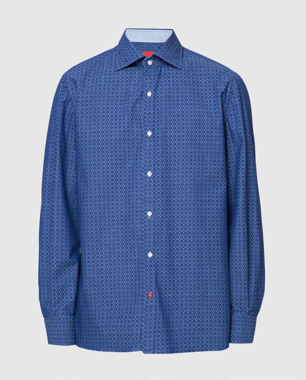 ISAIA Синяя рубашка CAM088C6083