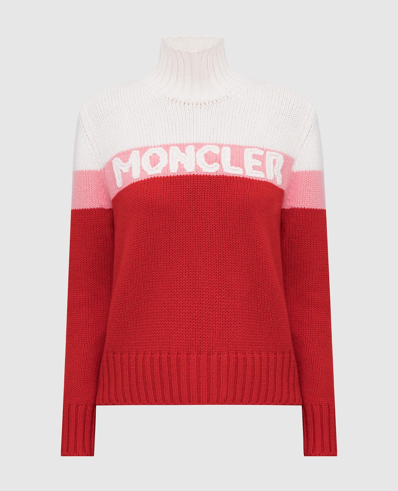 Красный свитер из шерсти и кашемира