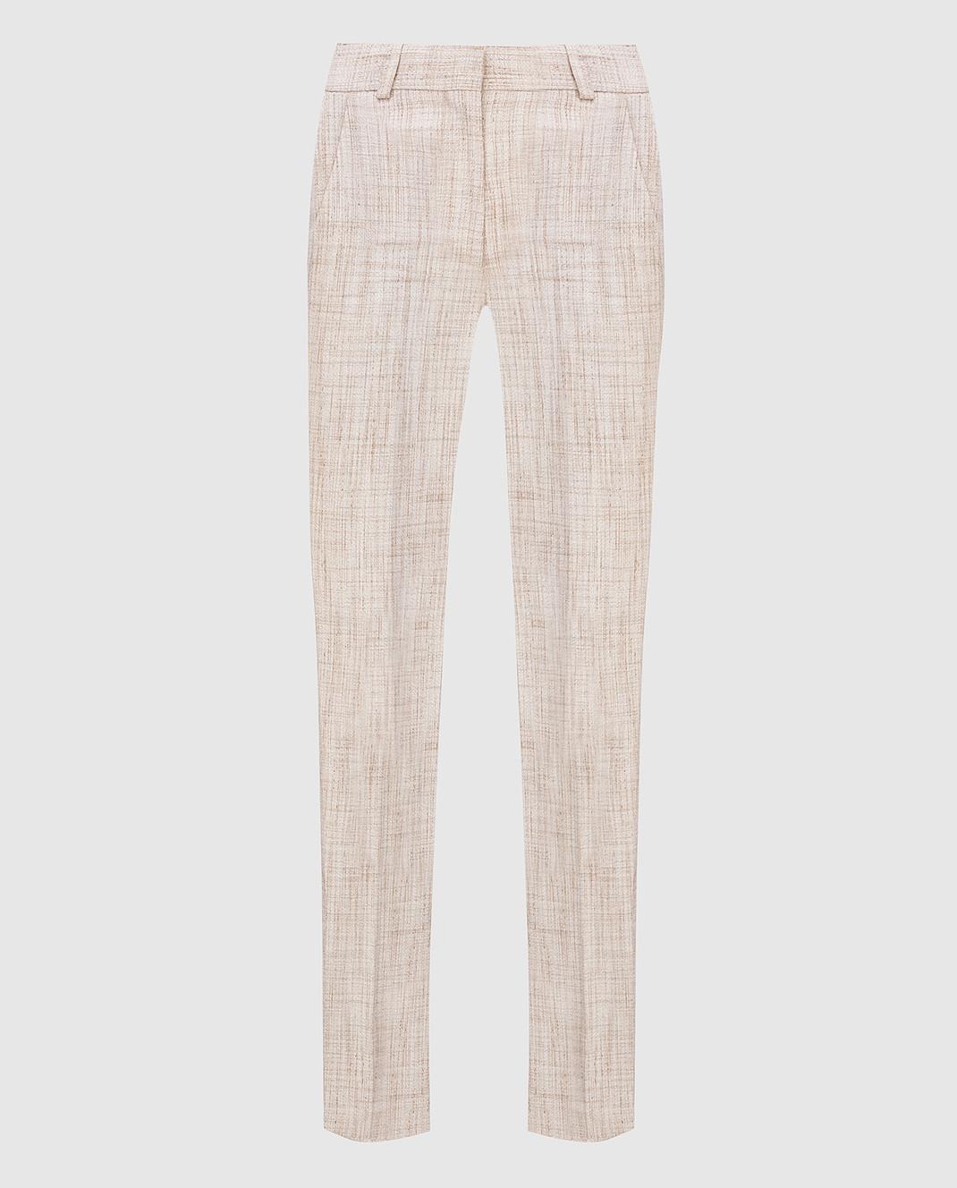 Victoria Beckham Бежевые брюки TRSLM2402