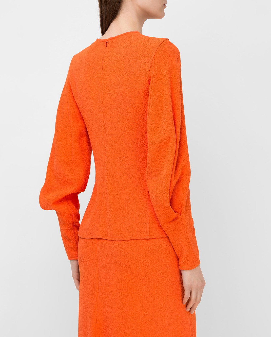 Victoria Beckham Оранжевая блуза TPLNG1339 изображение 4