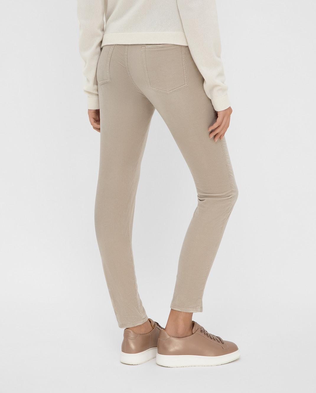 Miu Miu Бежевые вельветовые джинсы изображение 4