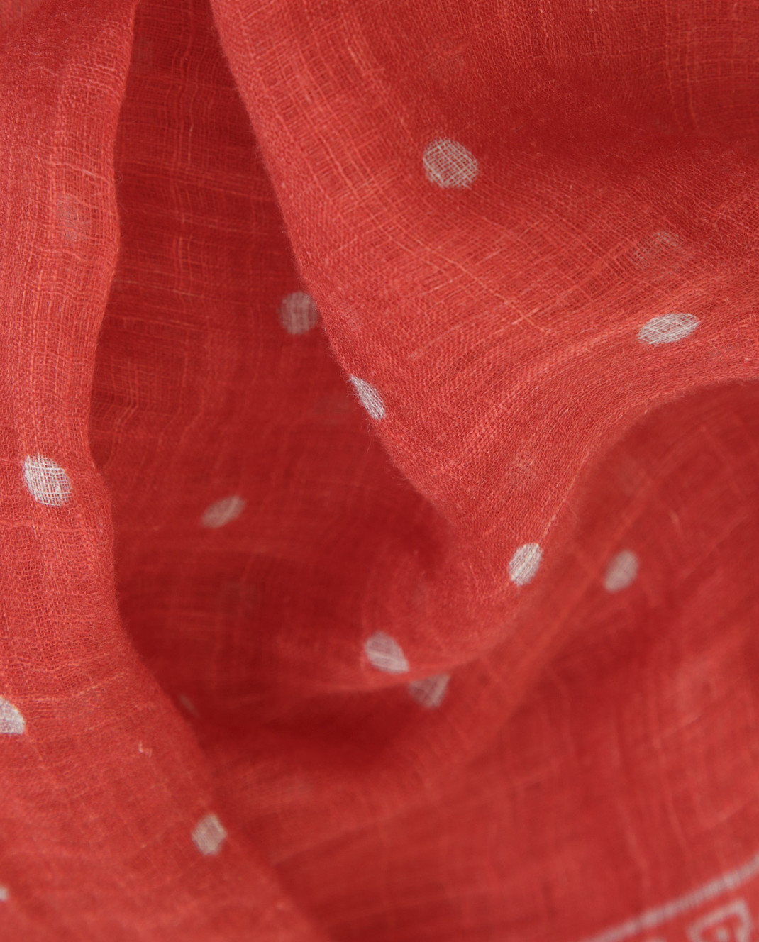 Brunello Cucinelli Коралловый шарф из льна MSC610AG изображение 3