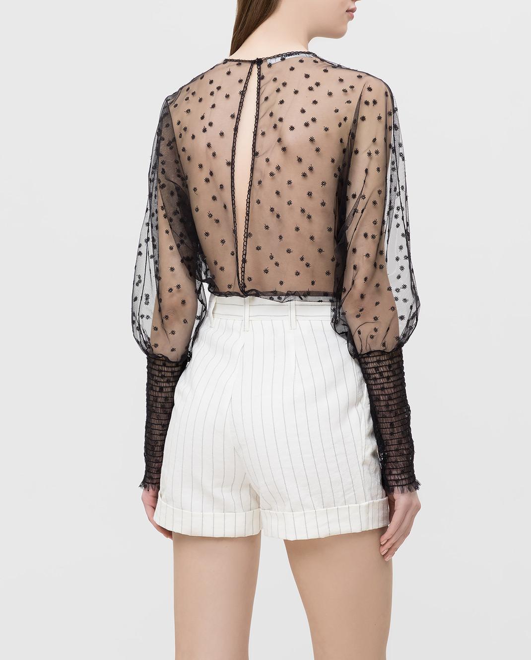 Philosophy di Lorenzo Serafini Черная блуза с вырезом на спине изображение 4