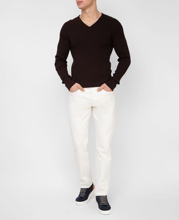 Темно-коричневый пуловер hover