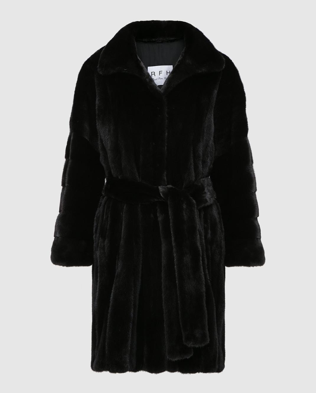 Real Furs House Черное меховое пальто TB5253842