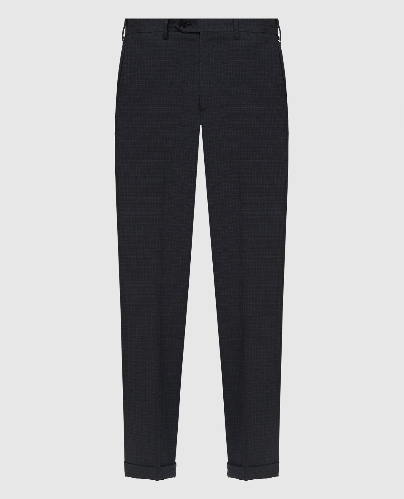 Темно-серые брюки из шерсти