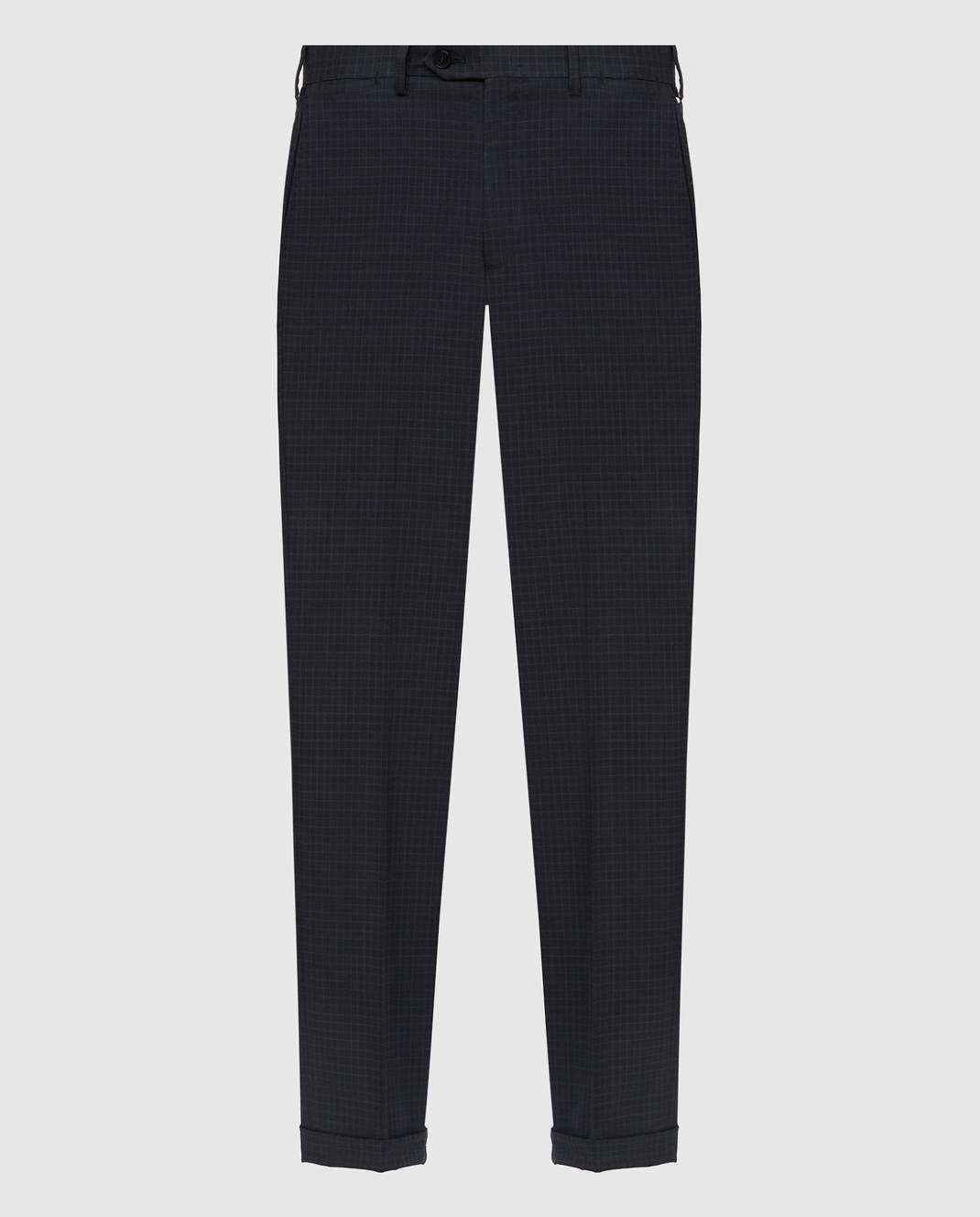 Brioni Темно-серые брюки из шерсти RPL80LP5A71