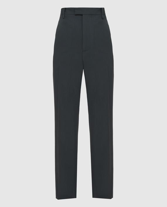 Зеленые брюки из шерсти