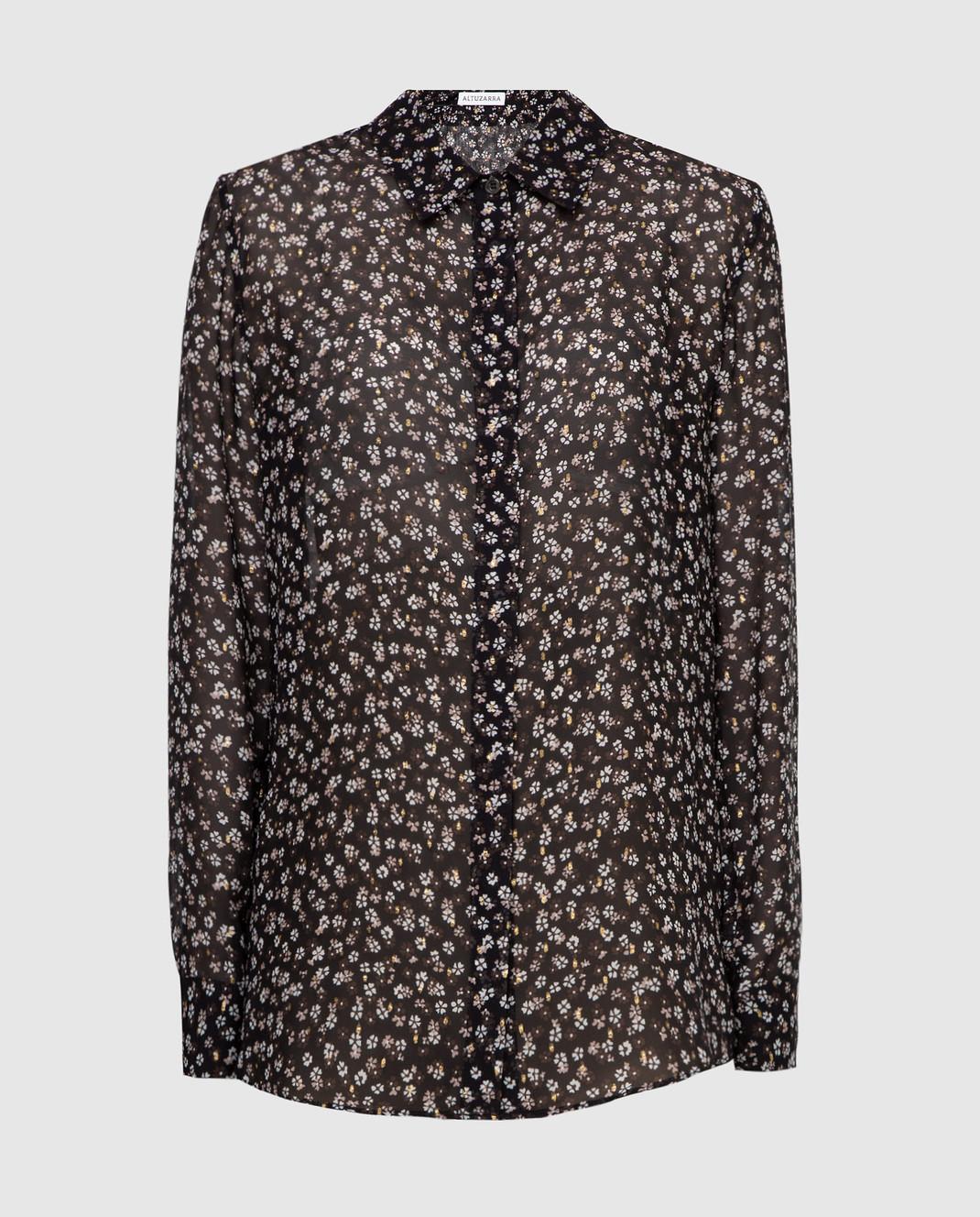 Altuzarra Черная блуза из шелка 418414848