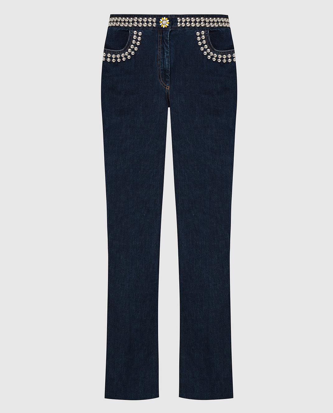 Miu Miu Темно-синие джинсы GWP192