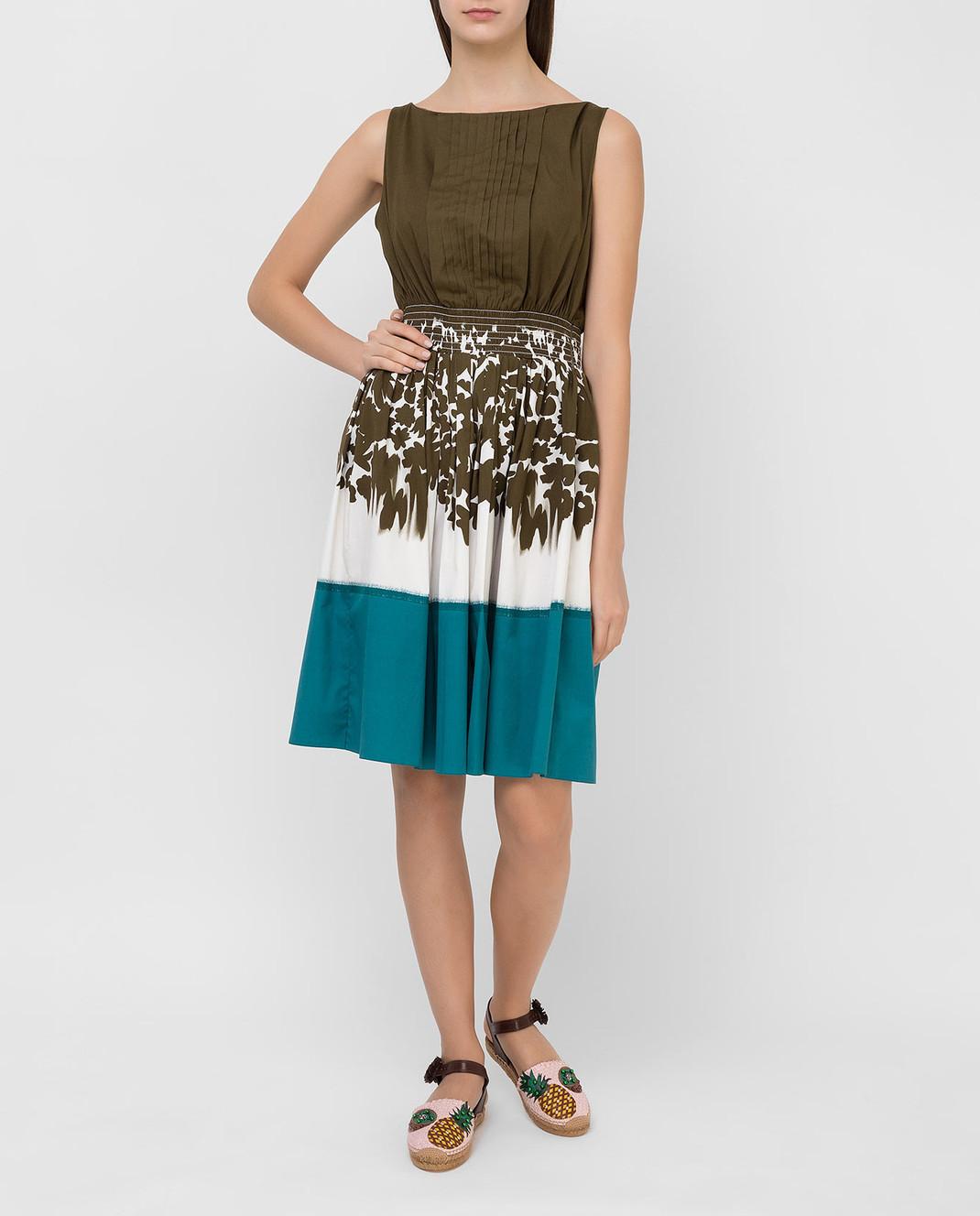 Prada Зеленое платье P32U7R изображение 2