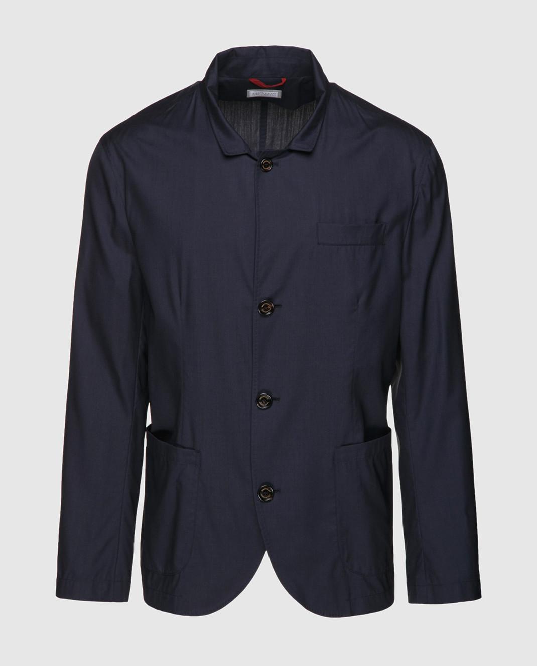 Brunello Cucinelli Темно-синий пиджак MH4626132