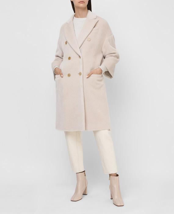 Светло-бежевое пальто из альпаки и шерсти hover
