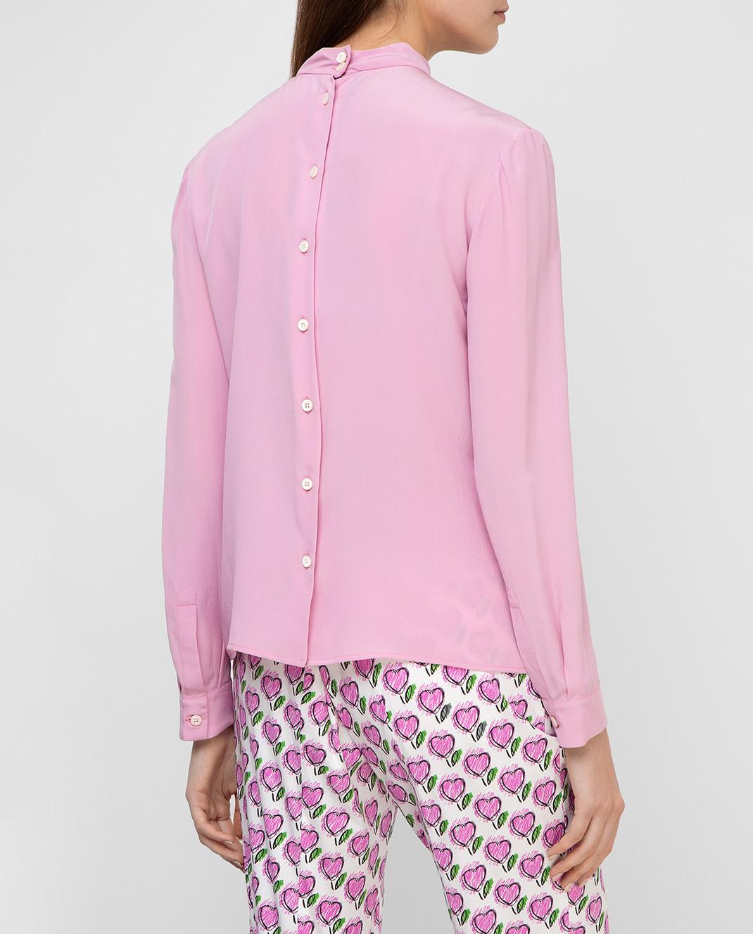 Prada Розовая блуза из шелка P970C изображение 4