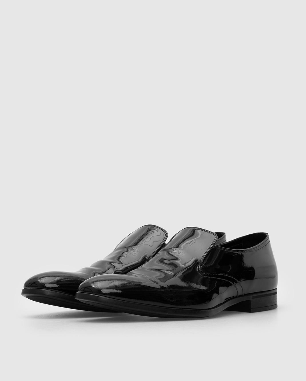 Prada Черные кожаные лоферы 2DC129 изображение 3