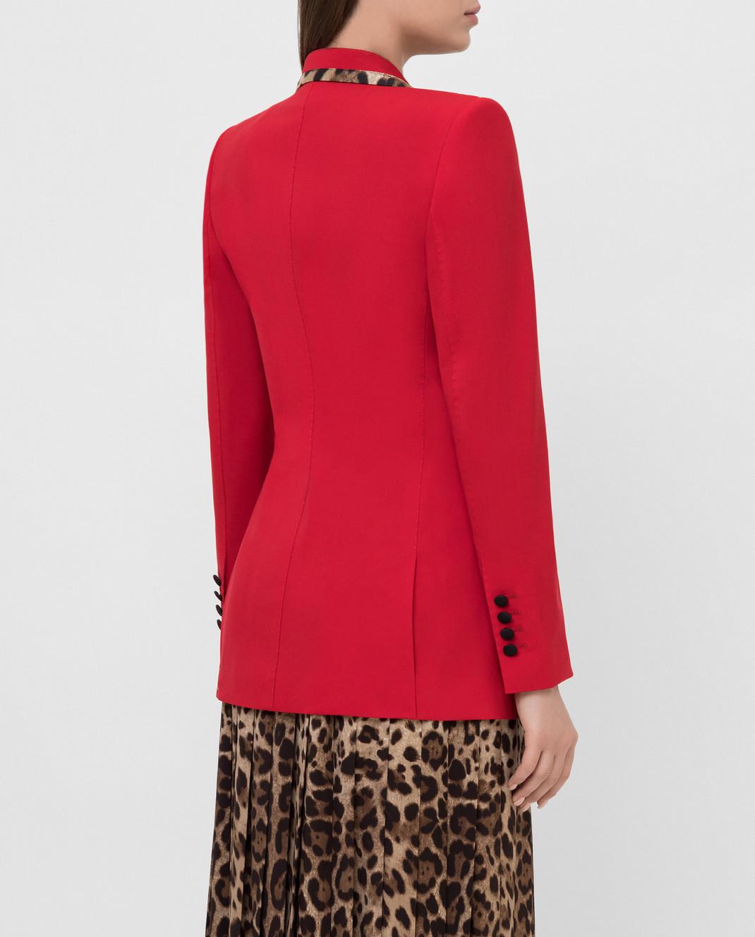 Dolce&Gabbana Красный жакет из шерсти изображение 4