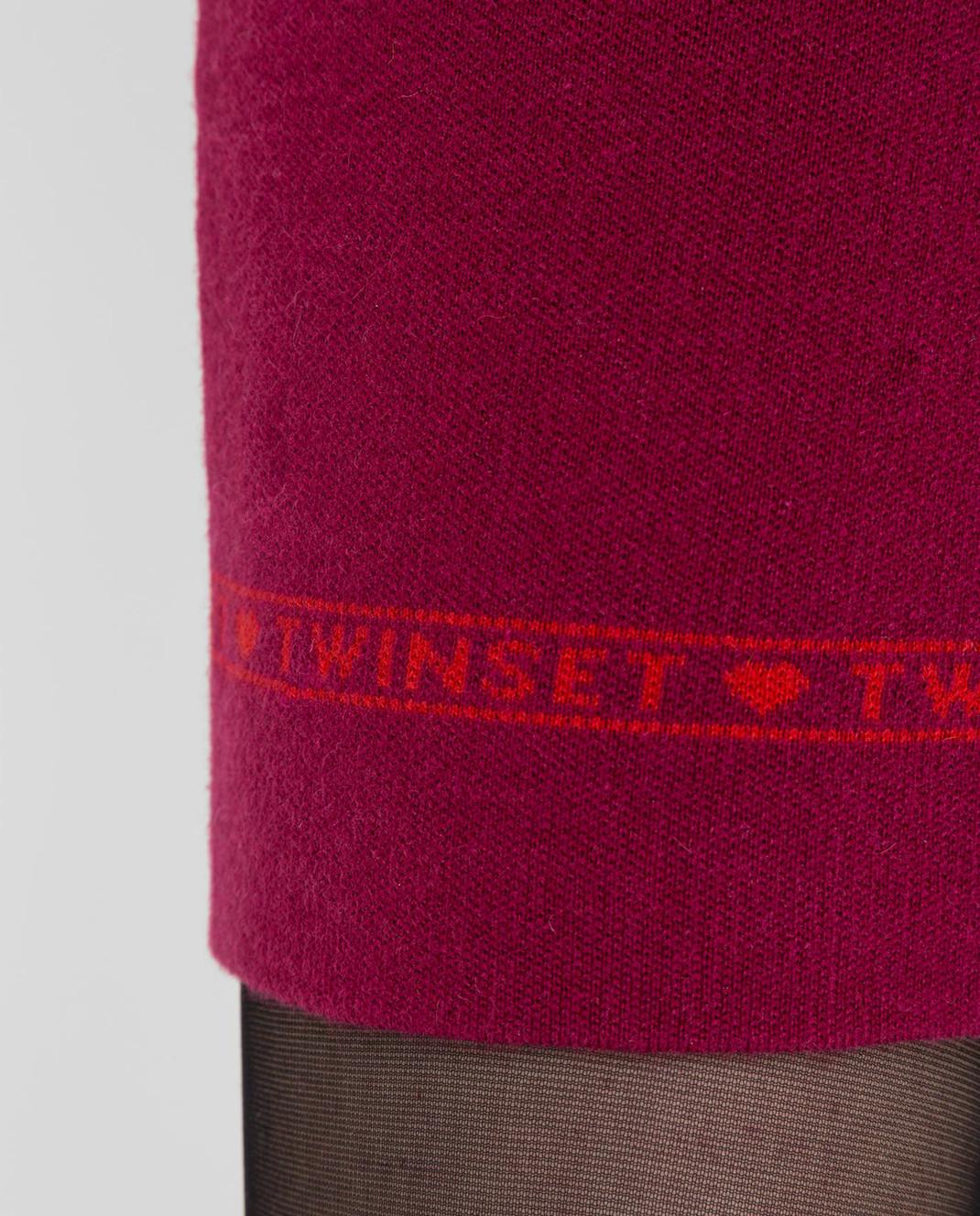 Twin Set Малиновое платье изображение 5