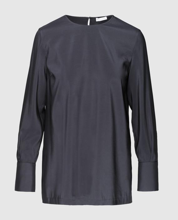 Тёмно-синяя блуза