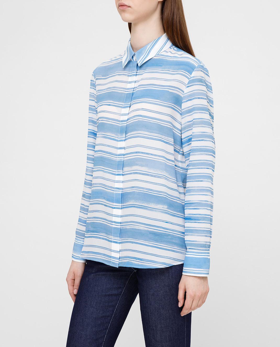 Altuzarra Голубая рубашка из шелка изображение 3