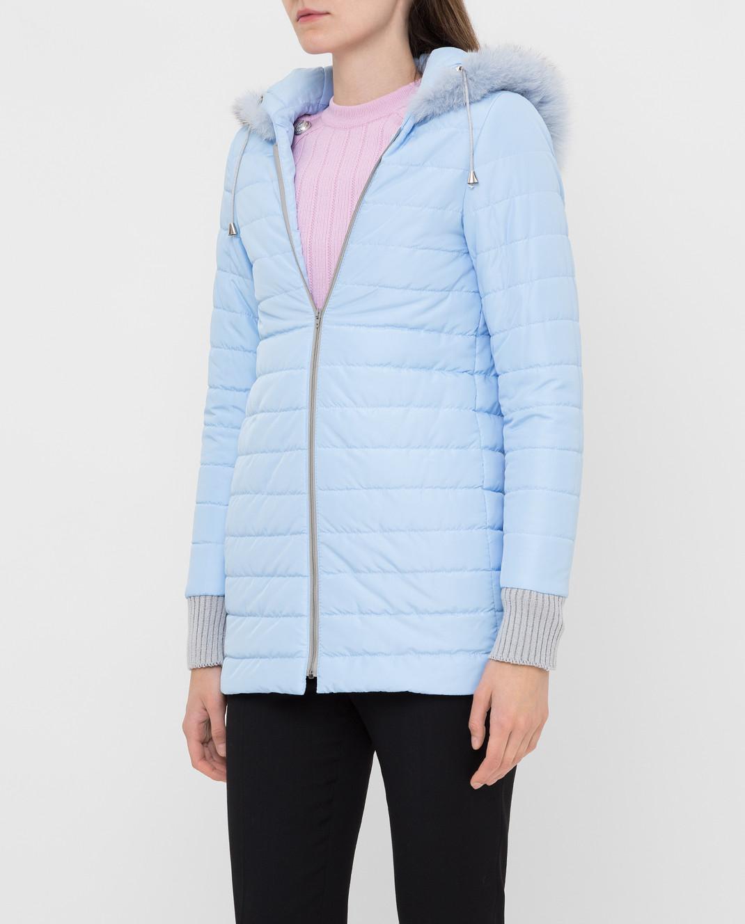 Heresis Голубое пальто из шерсти P1290VO изображение 5
