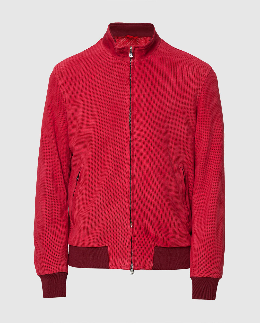 ISAIA Бордовая замшевая куртка LWT017PLW03