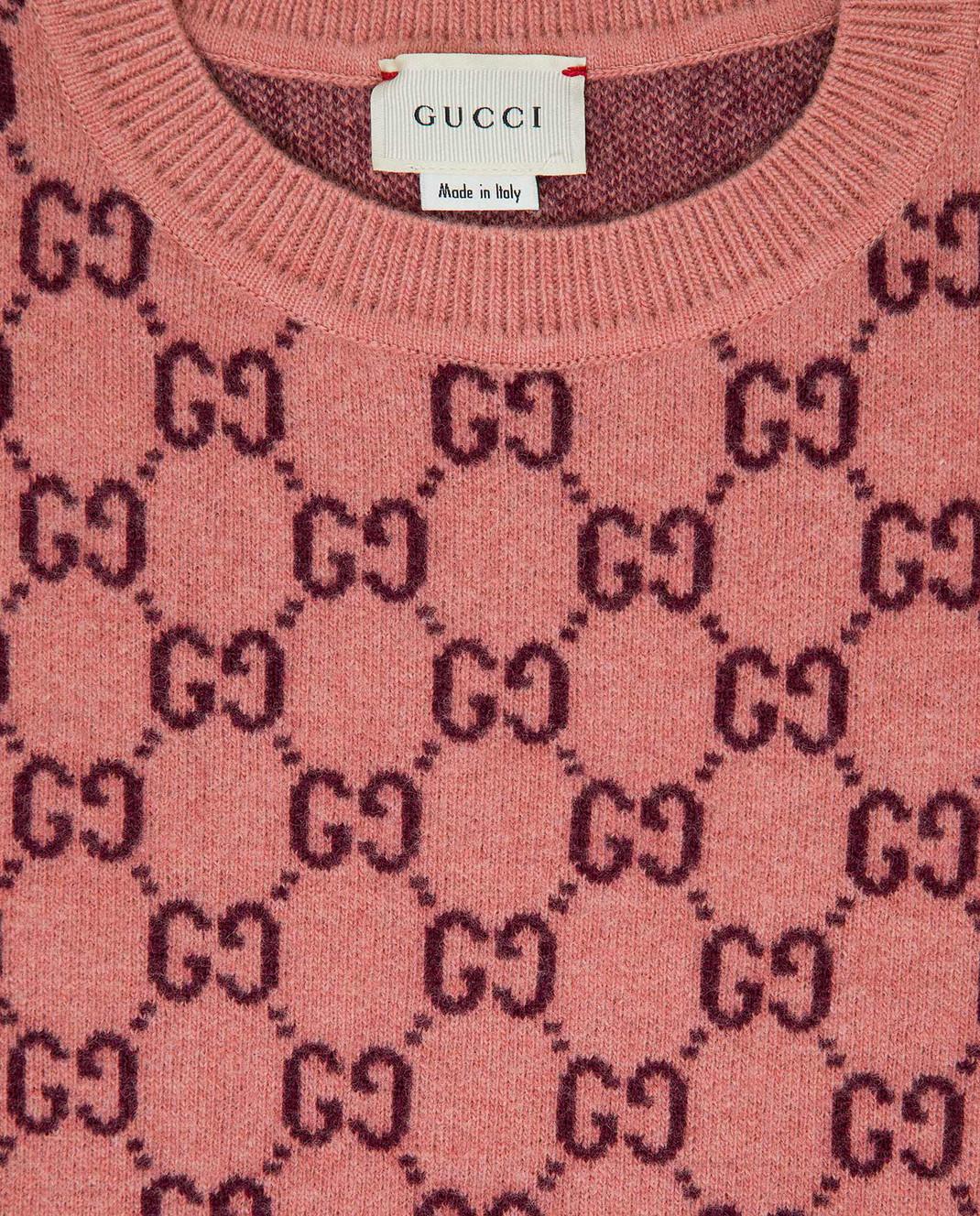 Gucci Детский розовый свитер из шерсти изображение 3