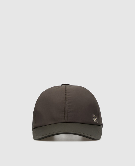 Темно-коричневая кепка из шелка