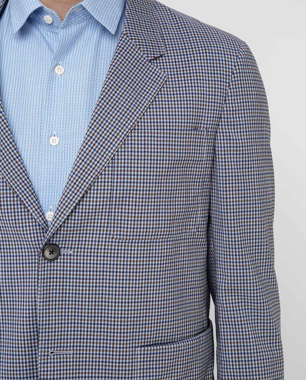 Prada Синий блейзер из шерсти изображение 5
