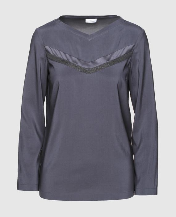 Темно-серая блуза