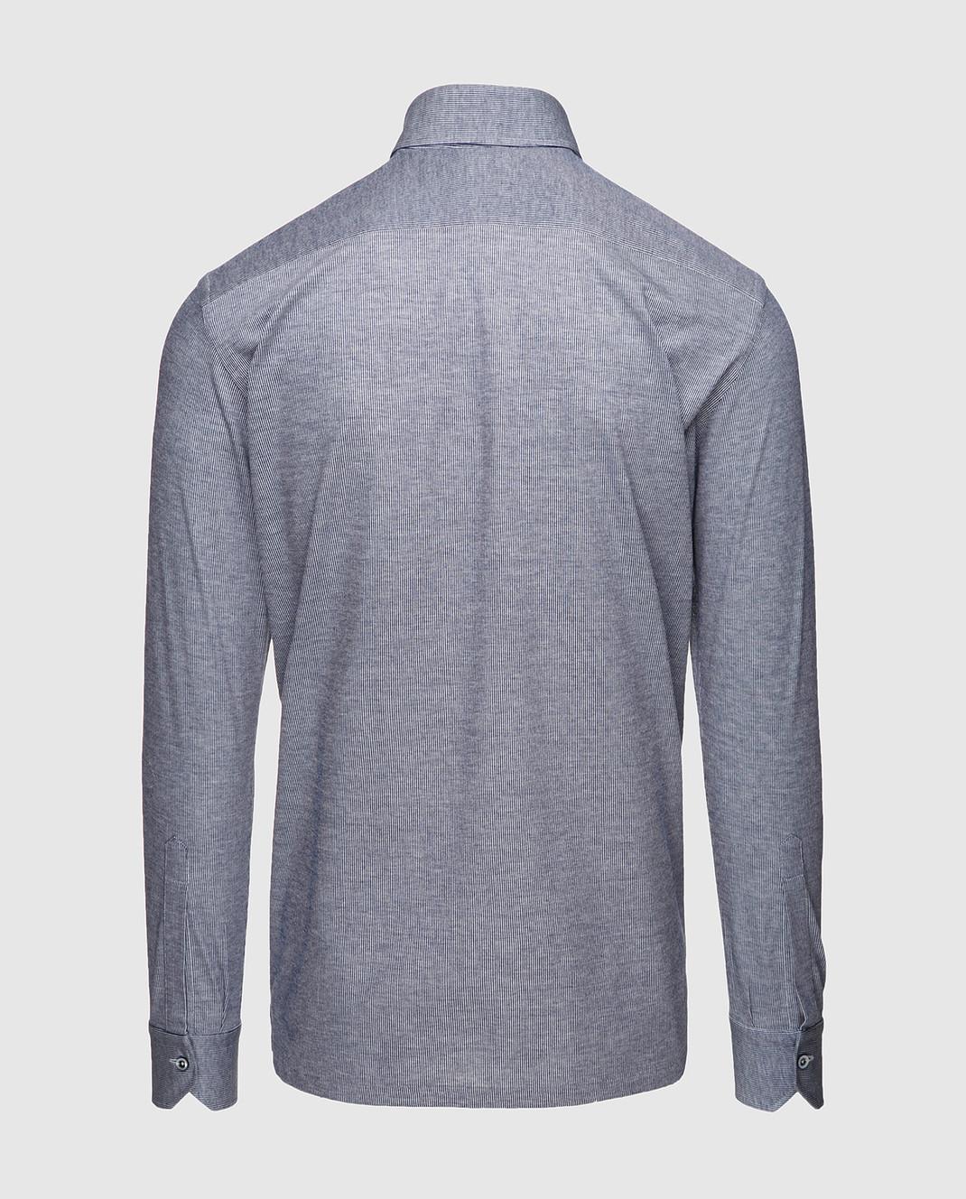 Marol Синяя рубашка с длинным рукавом 6726 изображение 2