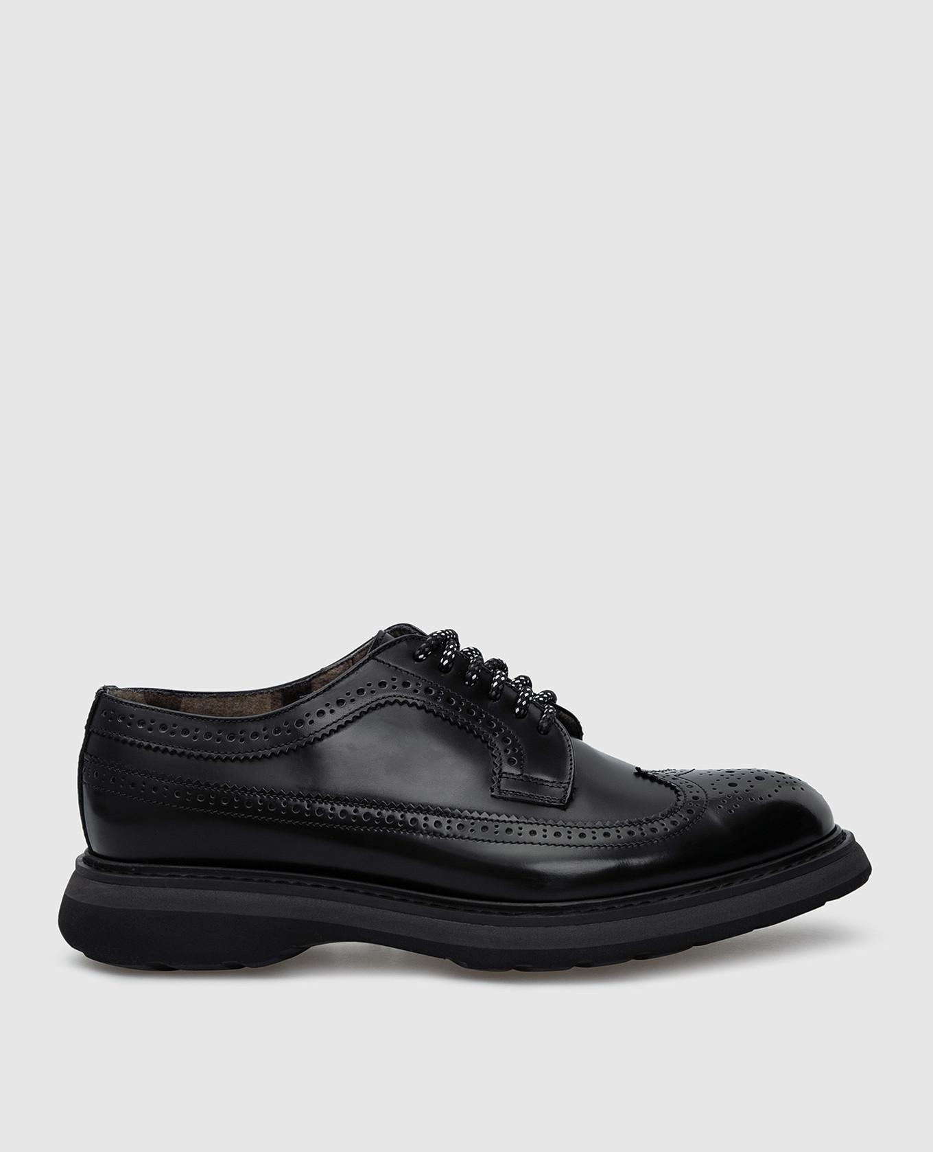 Черные кожаные броги Doucal's