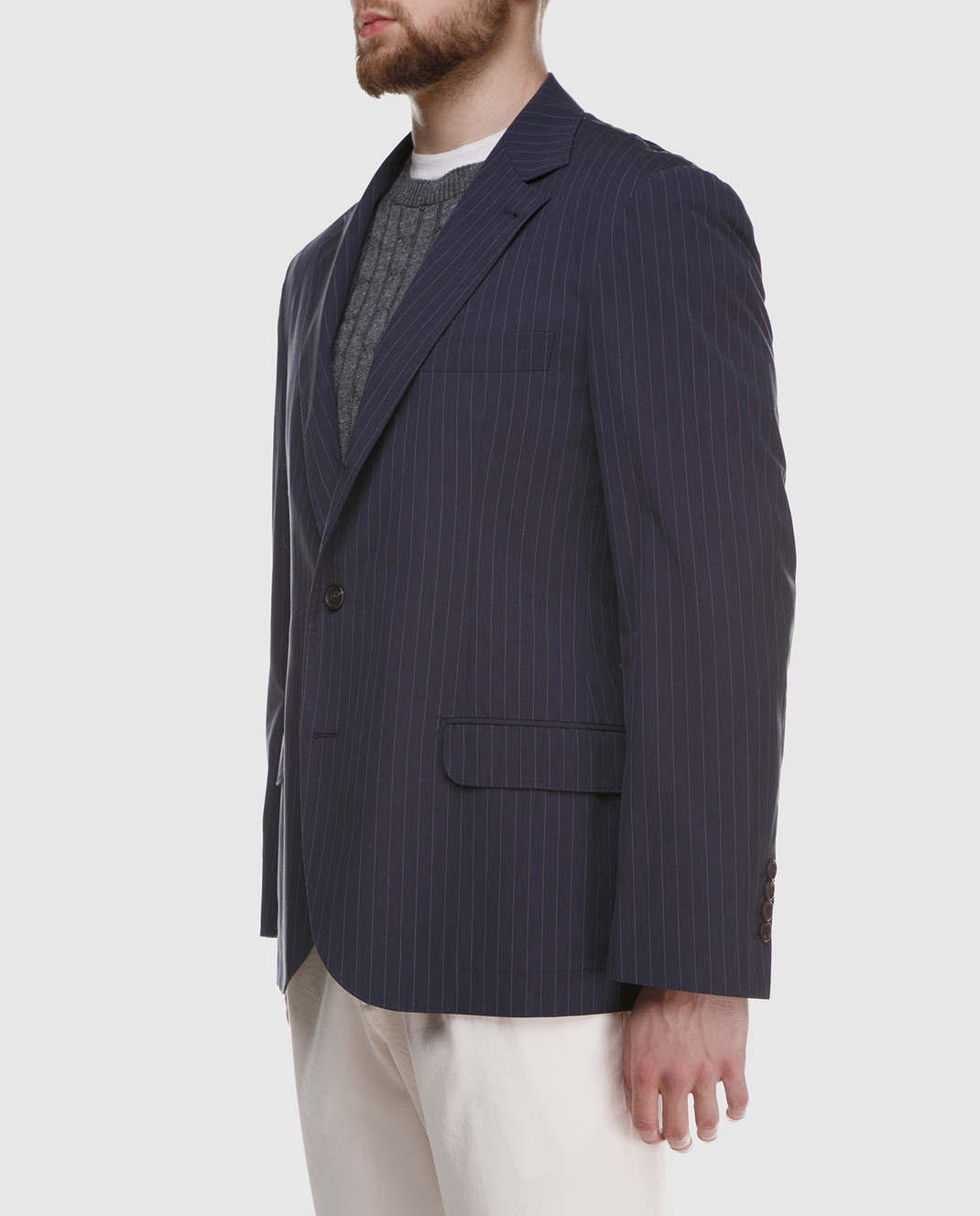 Brunello Cucinelli Синий пиджак MD4037BTD изображение 3
