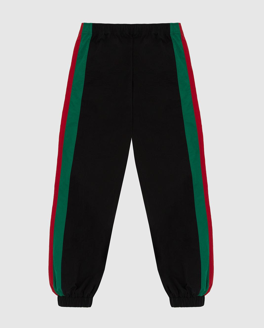 Gucci Детские черные спортивные брюки 600167XWAGV изображение 2