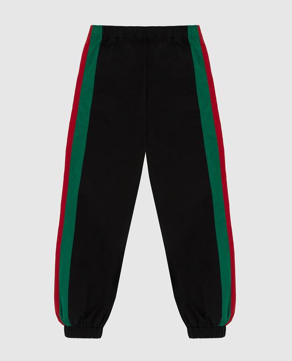 Детские черные спортивные брюки hover