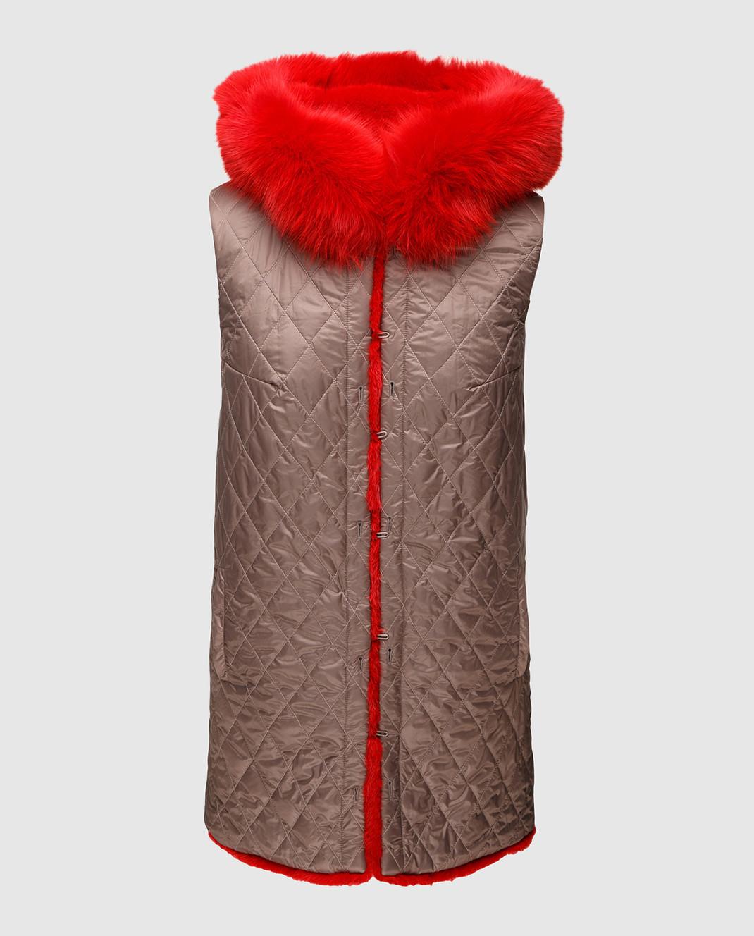 Fabio Gavazzi Парка из шерсти и кашемира и двусторонний жилет с мехом норки и лисы с карманами 9TV000I18FG101PIVR изображение 3