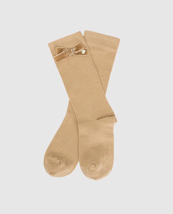 Детские бежевые носки hover