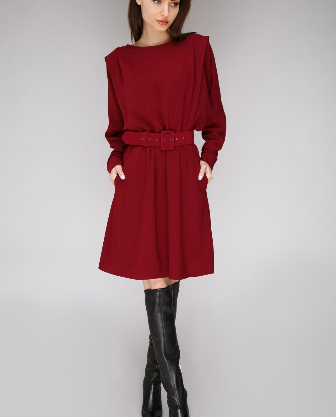 Alexander Terekhov Бордовое платье из шелка D7888007 изображение 2
