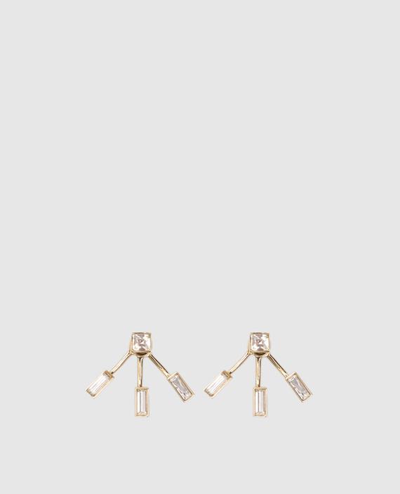 Серьги с позолотой и кристаллами Swarovski