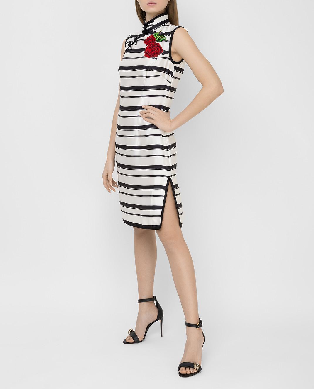 Dolce&Gabbana Белое платье из шелка F6XG7ZHS1D0 изображение 2