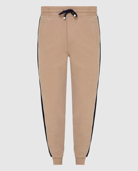 Бежевые спортивные брюки