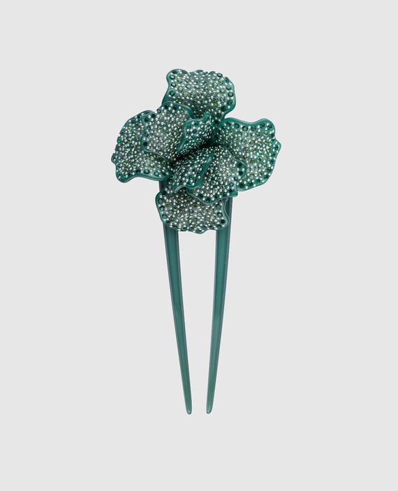 Зеленая шпилька для волос AcapulcoJungle